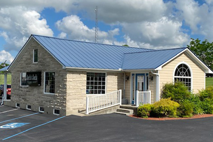 Jamestown, KY Insurance - View of the Office Building on a Bright Summer Day